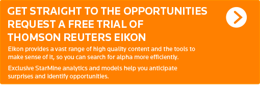 Request a free trial of Thomson Reuters Eikon